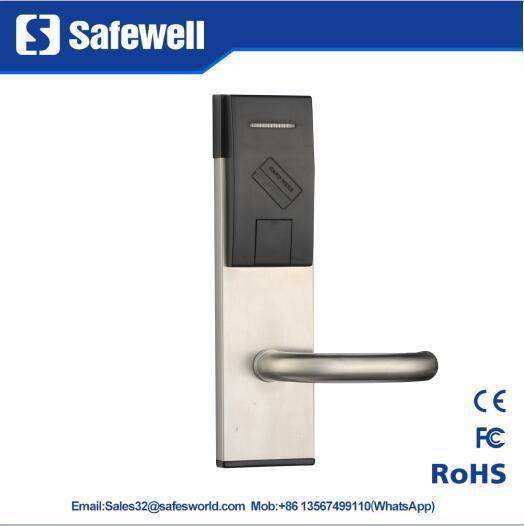 201 Stainless Steel Silver & Golden Color Hotel Door Lock