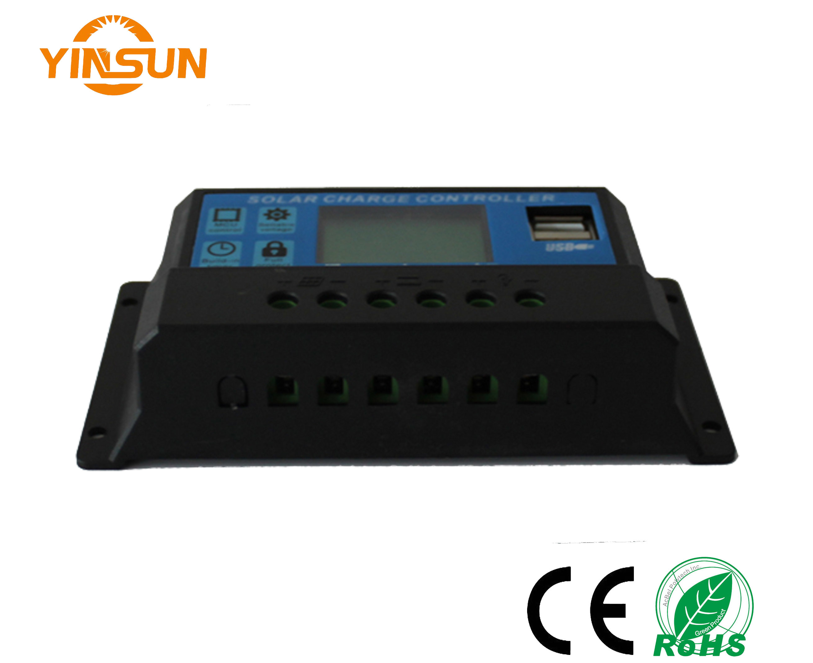 10A 12V/24V Solar Charge Controller, LCD Display Connect Solar Panel Charger Battery Cheap Price for Solar Lighting