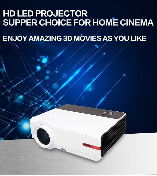 Yi-808A LED WiFi Android HD Projector 3200lumen 3D Beamer 1280*800 Home Cinema Theatre LCD HDMI VGA USB TV Beamer Business Education Meeting Beamer