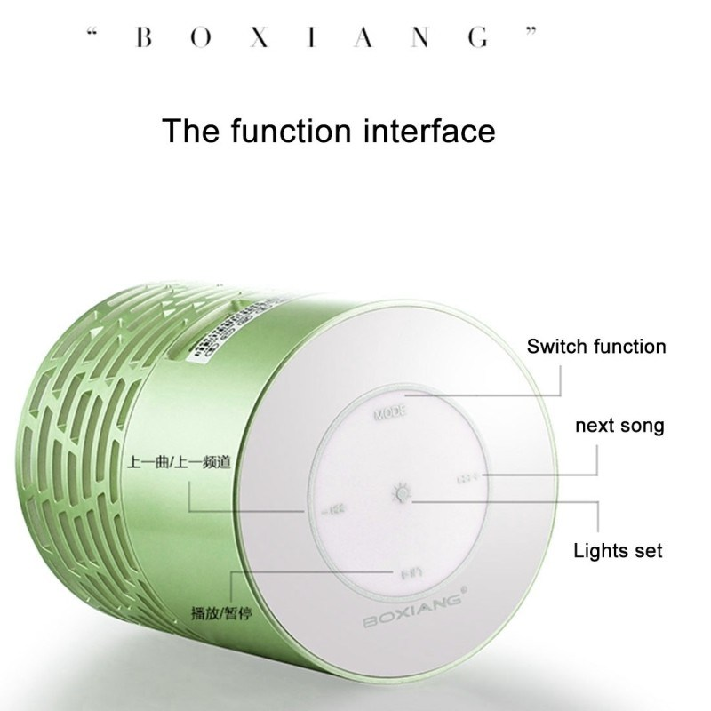 Mini Portable LED Light Wireless Bluetooth Speaker