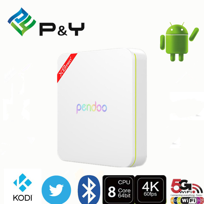 Pendoo X8 PRO+ Amlogics905X 2g 16g Android 6.0 TV Box Kodi17.0 Octa Core