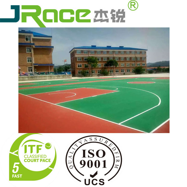 Silicon PU Sports Court Surface for Tennis Court