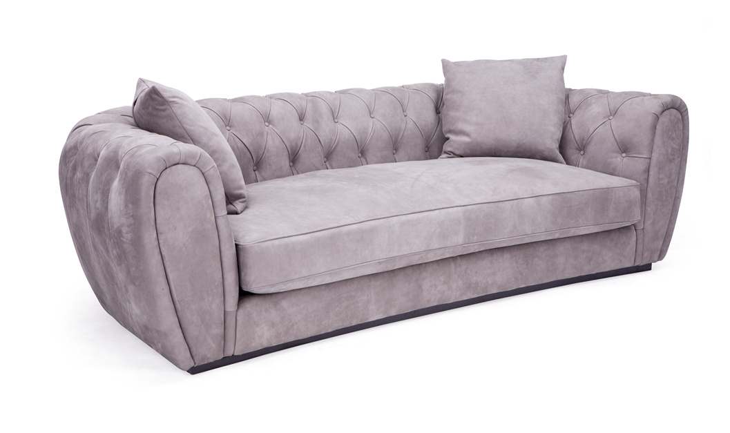Italian Design Nubuck Leather Fabric Sofas Villa Furniture