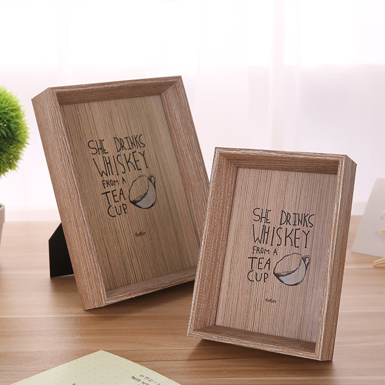 Natural 7-Inch Picture Frame Photo Wall Wood Frame Home Craft