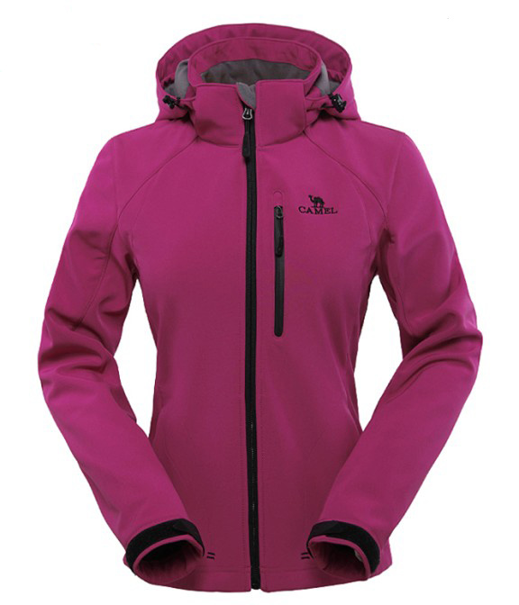 Ladies Stretch Hooded Soft Shell Jacket