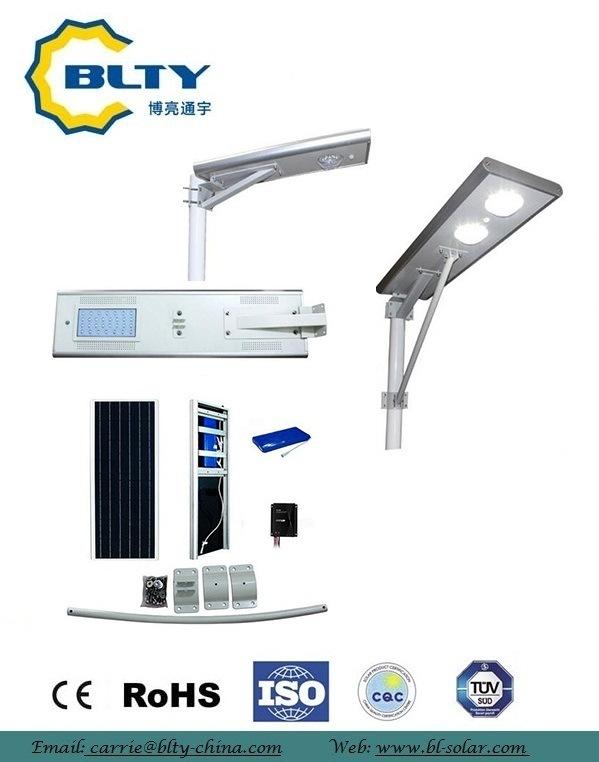30W Waterproof Solar Street Light with Motion Sensor