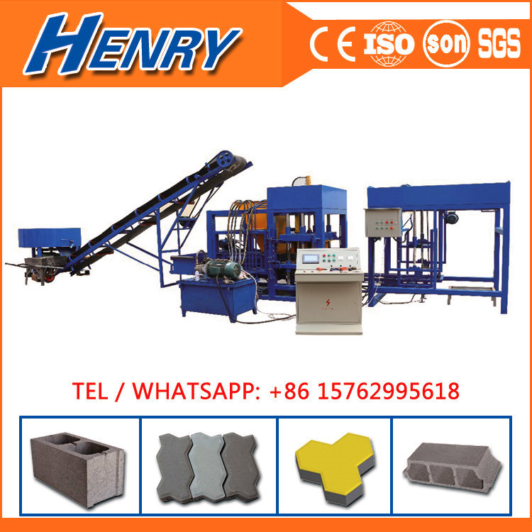 Qtj4-20 Automatic Vibration Concrete Block Making Machine Solid Brick Machine