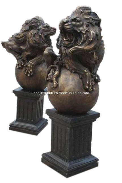 Bronze Casting Lion Sculpture (SL516)