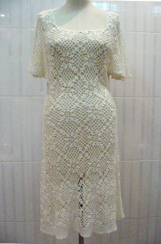 Free crocheted wedding dress patterns crochet tutorials for Crochet wedding dress patterns