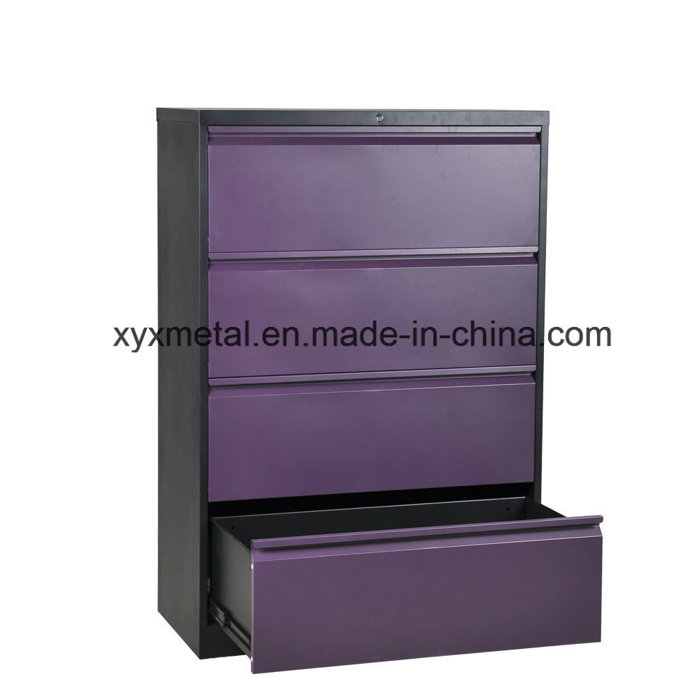4 Drawer Lateral Steel Filing Cabinet/4 Drawer Metal Storage Cabinet
