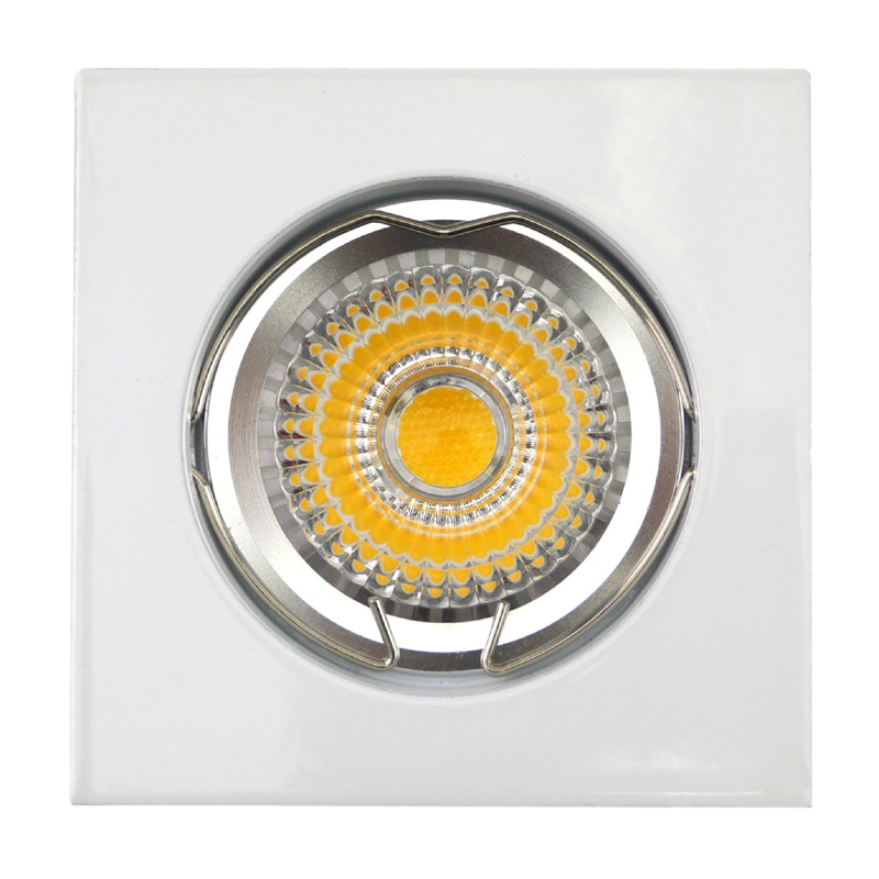 Die Cast Aluminum GU10 MR16 Square Fixed Recessed White LED Light (LT1001)