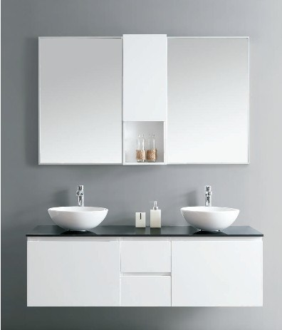 Bathroom Cabinet with Two Bathroom Basins (DS13)