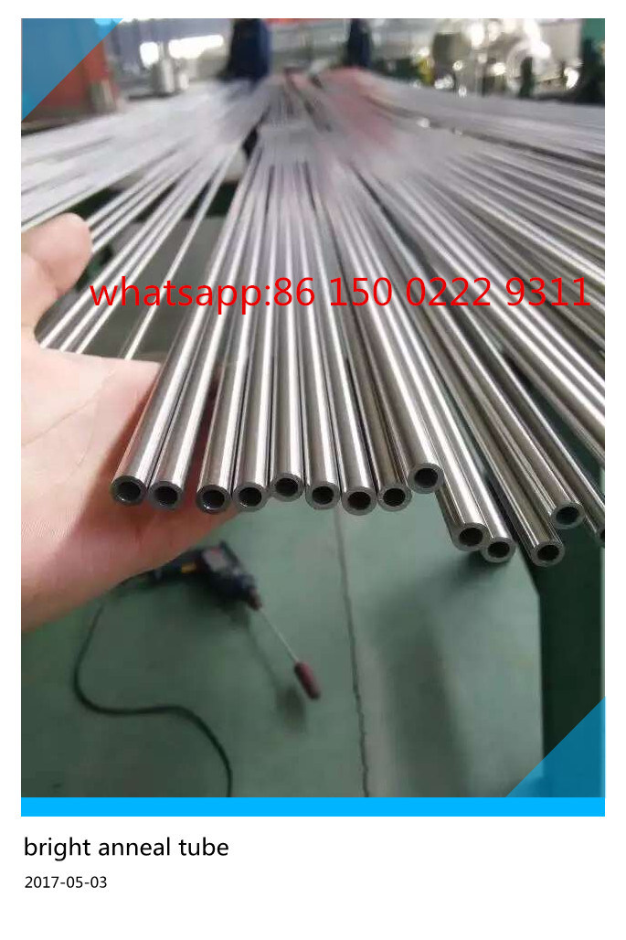 304 316 Seamless Plain End Stainless Steel Bright Annealed Tube