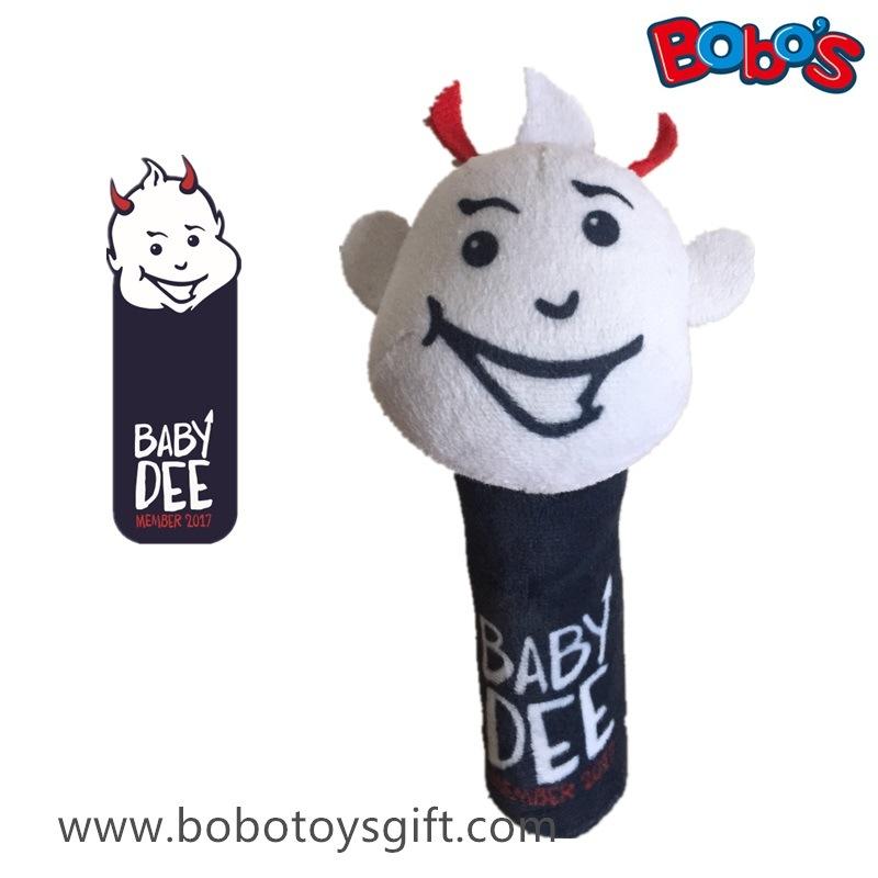 Custom Cartoon Design Plush Baby Rattle Toy