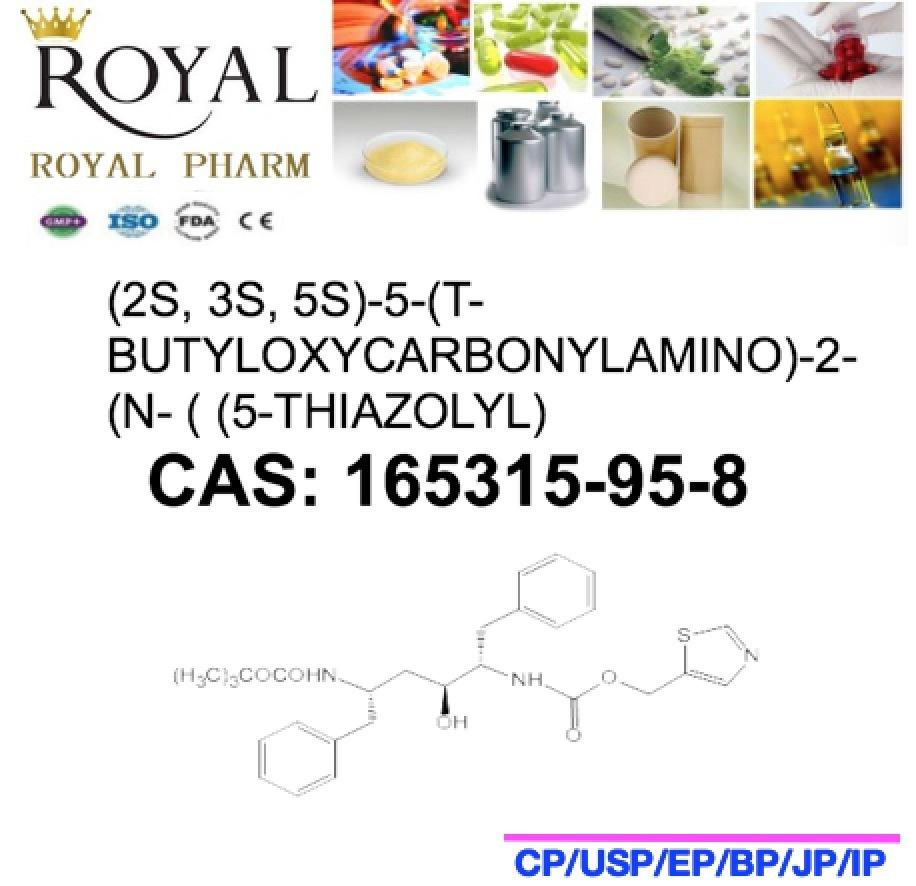 (2S, 3S, 5S) -5- (T-BUTYLOXYCARBONYLAMINO) -2- (N- ( (5-THIAZOLYL) CAS: 165315-95-8, 99.0%Min. Intermediate of Ritonavir