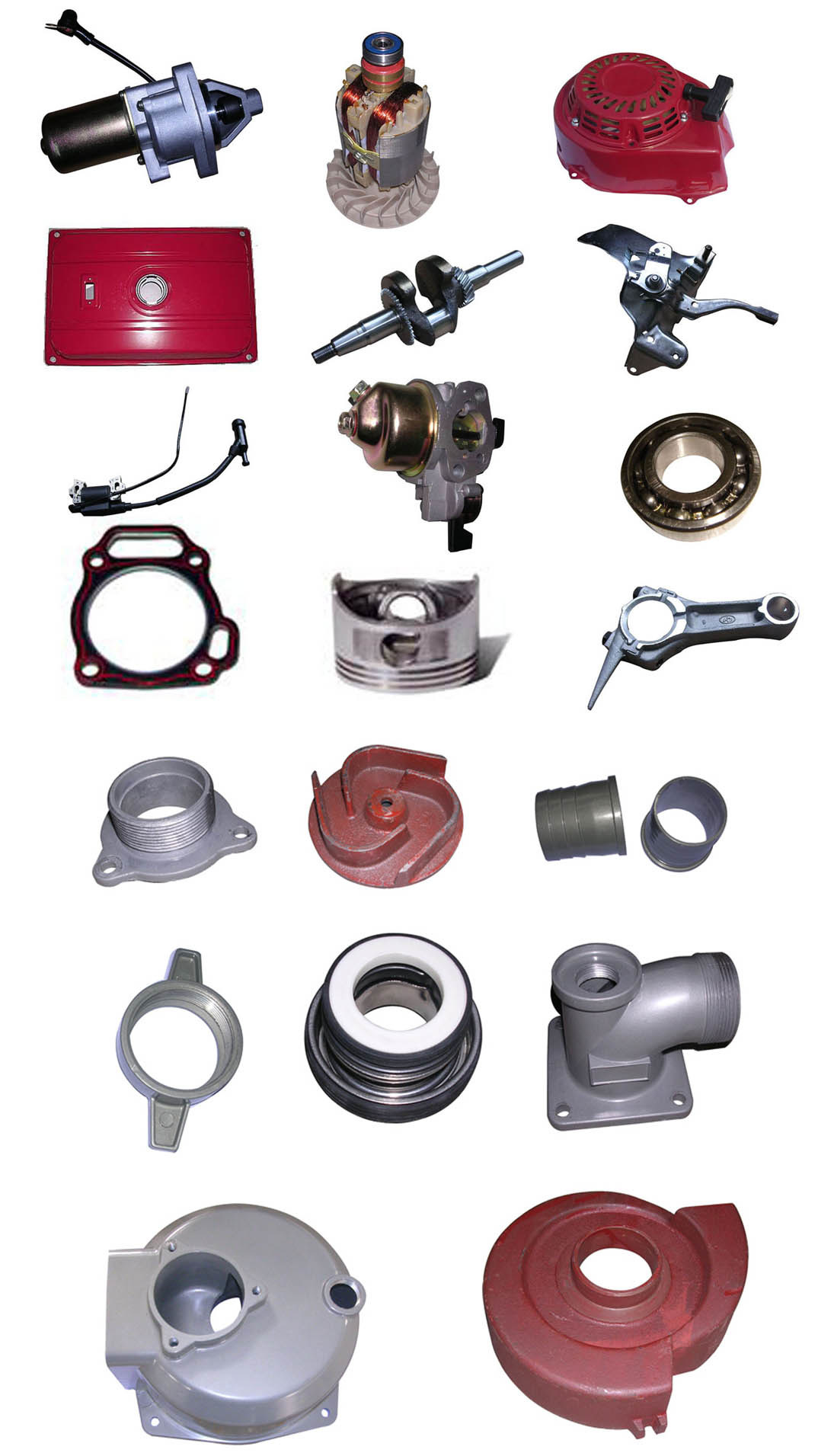 spare parts for gasoline engine generator pump   china