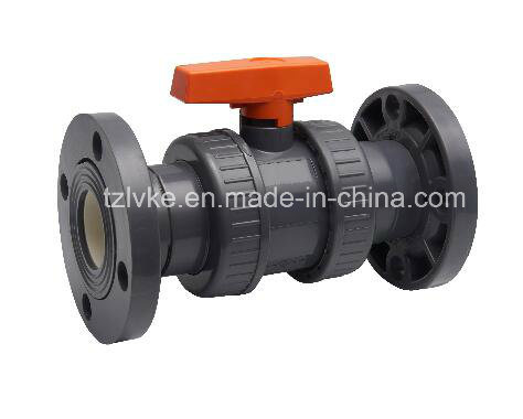 PVC True Union Ball Valve for Water Supply with ISO9001 (DIN)