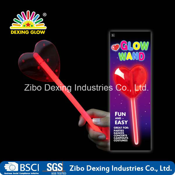 Glow Heart Wand for Party Valentine′s Day
