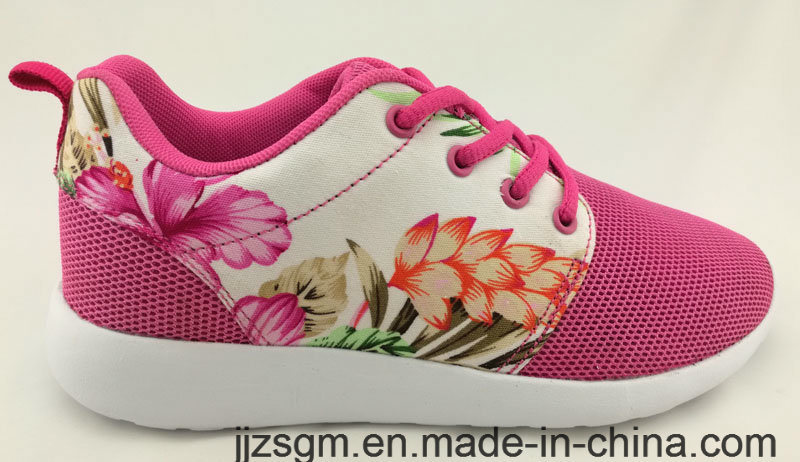 Beautiful Chinese Flower Pattern Casual Shoes for Lady