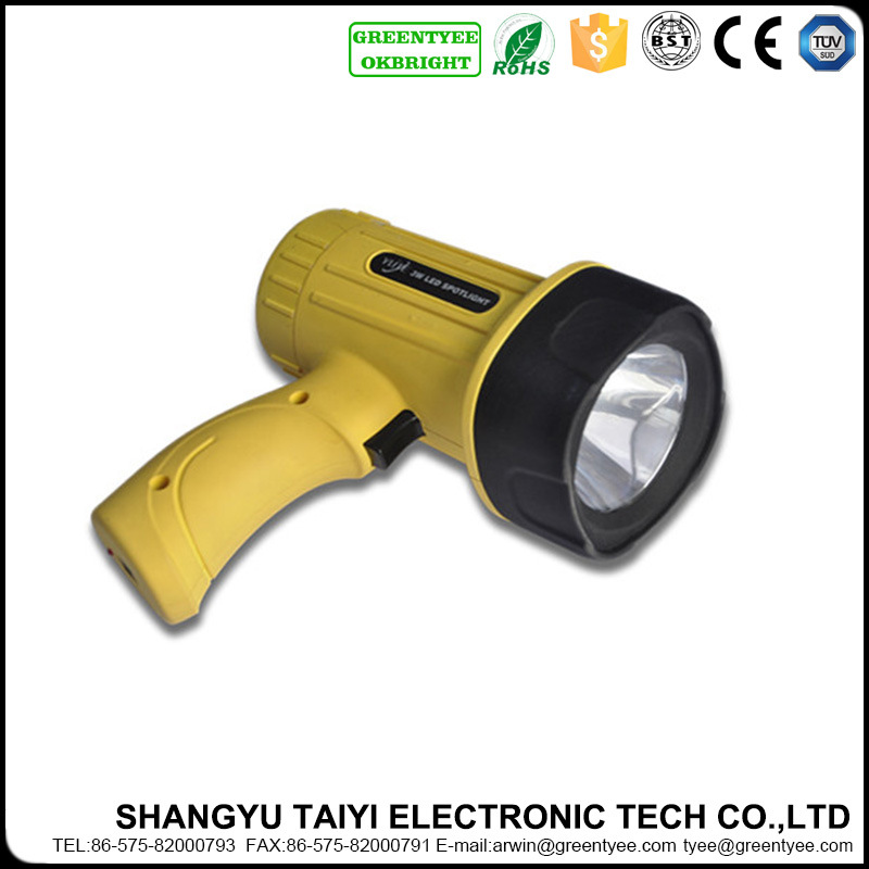 3W 200lm High Power Rechargeable LED Spotlight