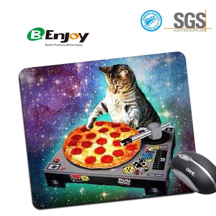 Design Natural Eco Rubber Durable Computer Mouse Pads for Gift