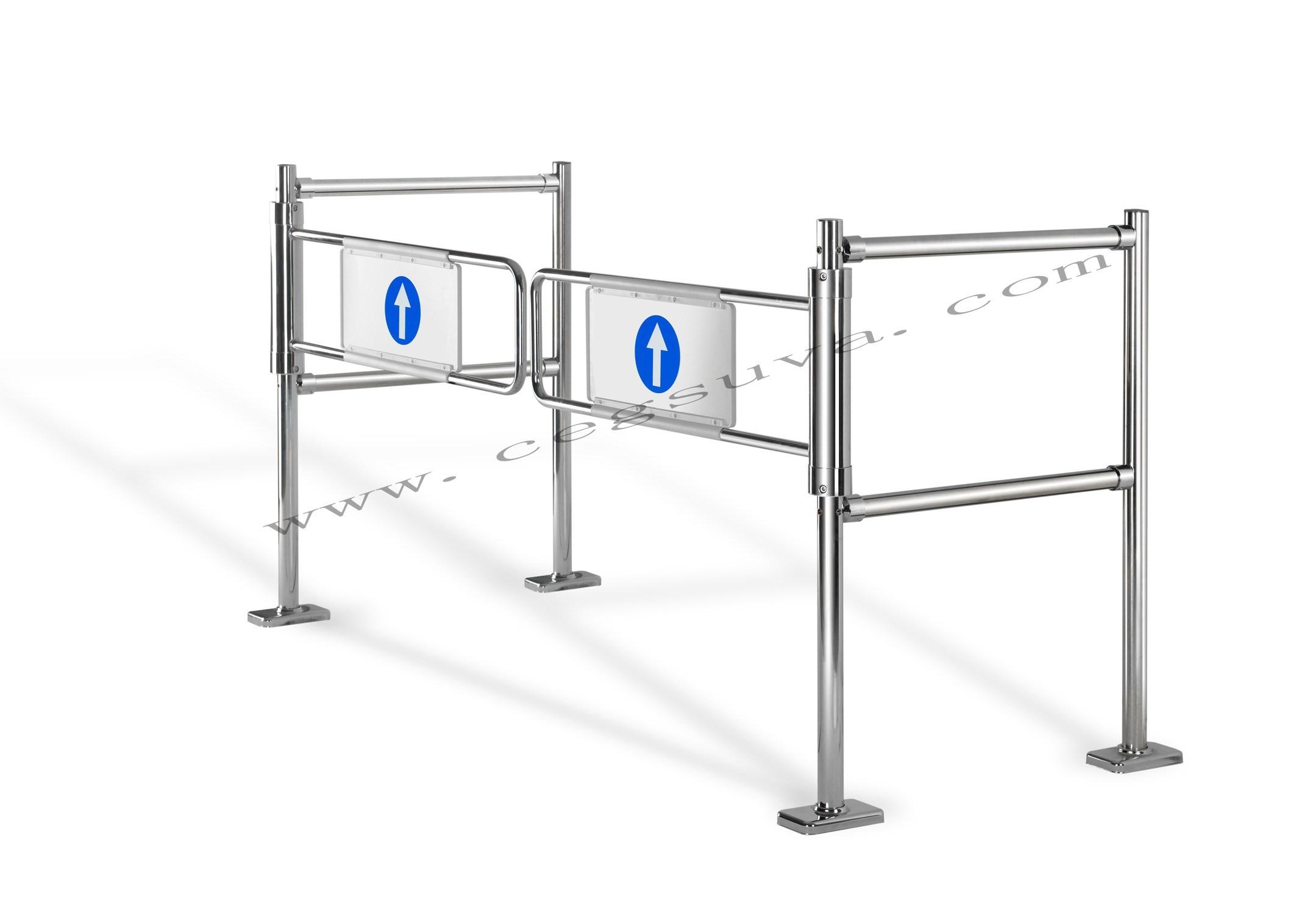 Dual Mechanical Gate Supermarket Gate, Swing Gate, Entrance Gates, Barrier Gate, Gate Opener