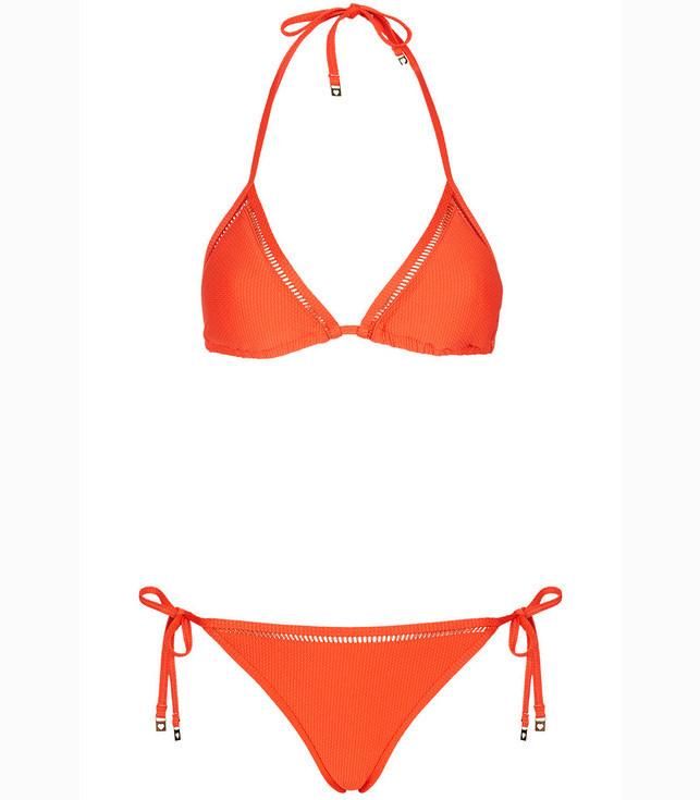 Pure Color Classic Orange Sunny Summer Cheap Bikini