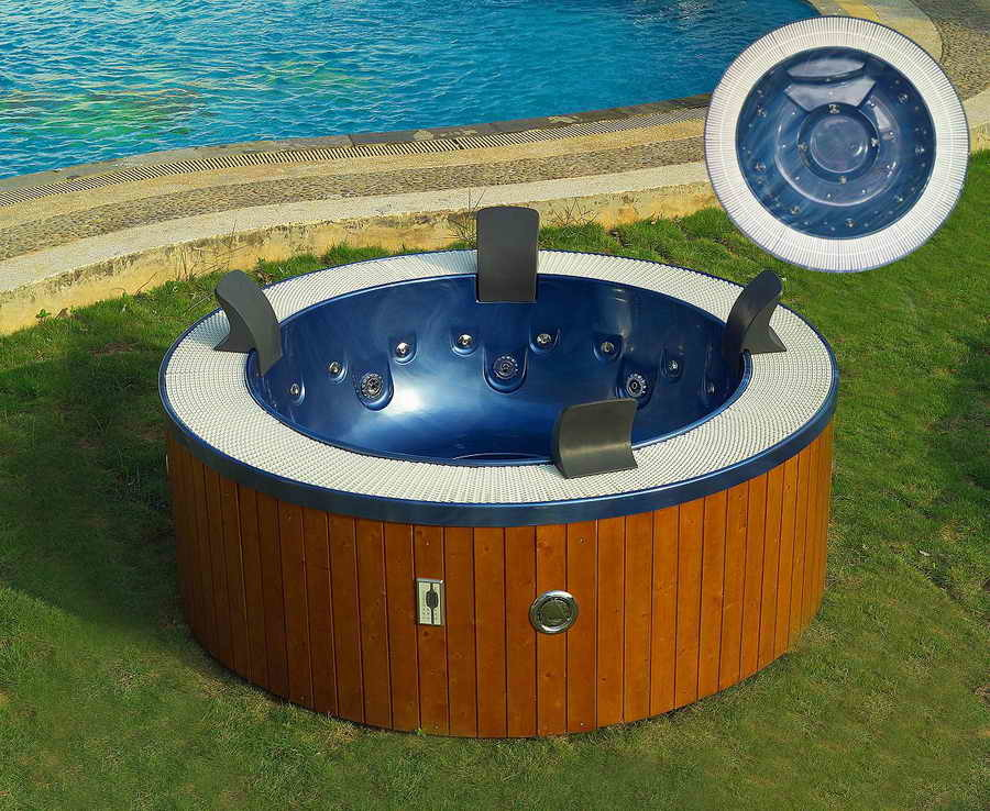 china outdoor acrylic round spa massage surfing bath tub. Black Bedroom Furniture Sets. Home Design Ideas