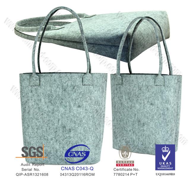 Handmade Fashion Stylish Shopping Felt Tote Bags