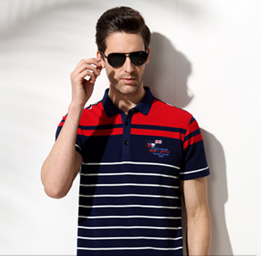 Fashion Cotton/Polyester Yarn Dyed Polo Shirt (P060)