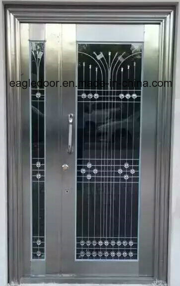 Gloden Stainless Steel Door with Glazing Trim in SUS304 (ES-9077)