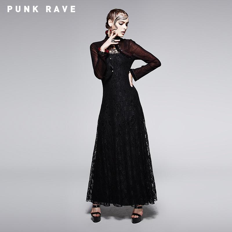 2015 Fashion Dark Red Gothic Dress with Cappar (Q-243)