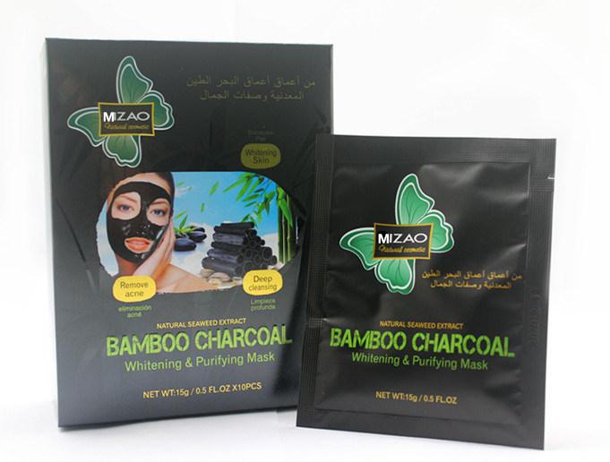 Natural Seaweed Bamboo Charcoal Mud Whitening & Purifying Mask