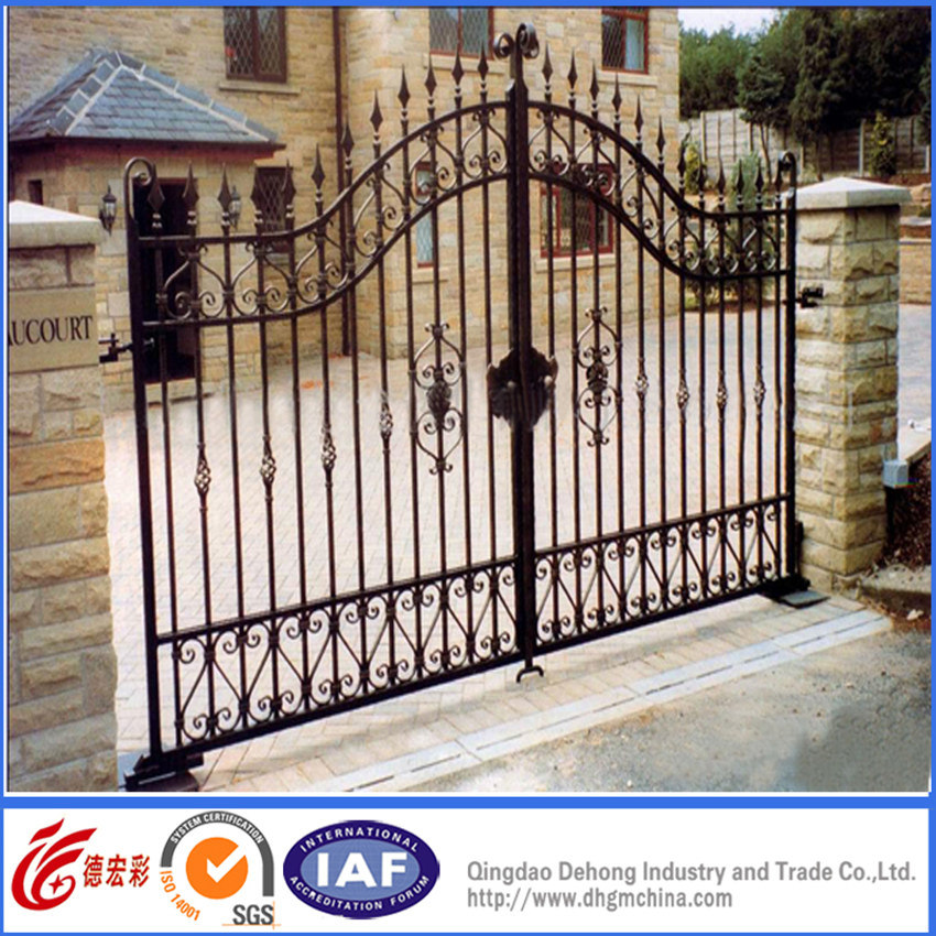 Swing Modern Temporary Classic Wrought Iron Gate Door. China Swing Modern Temporary Classic Wrought Iron Gate Door