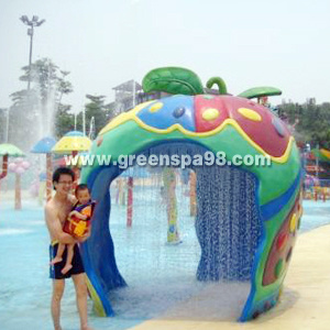 Small Apple House for Water Park, Aqua Play Equipment