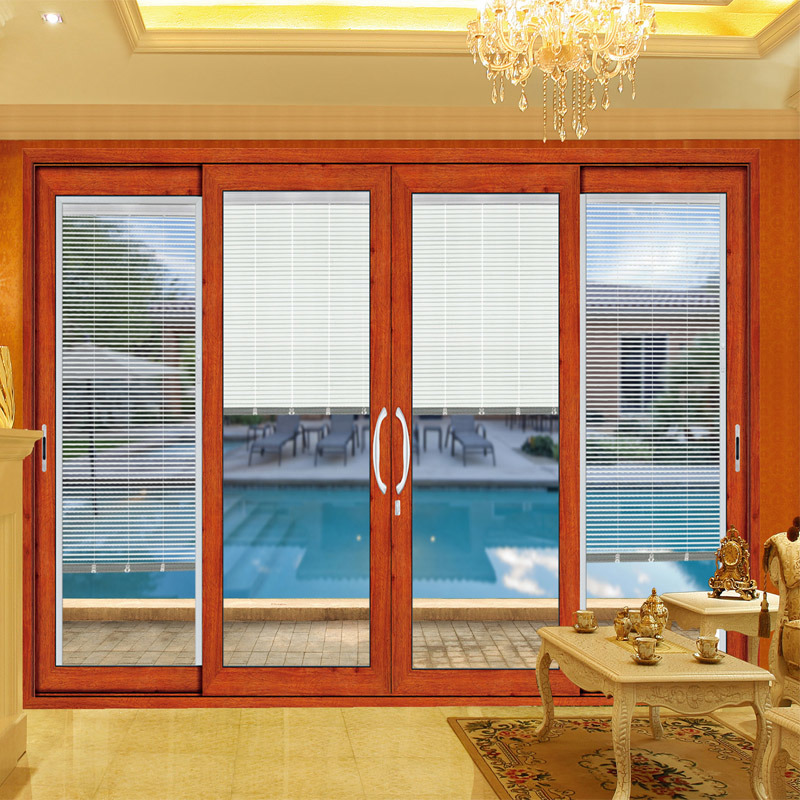 Feelingtop Interior or Exterior Aluminum Tempered Glass Sliding Door