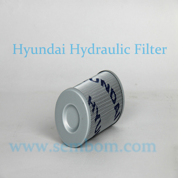 High Performance Hydraulic Oil Filter for Hyundai Excavator/Loader/Bulldozer