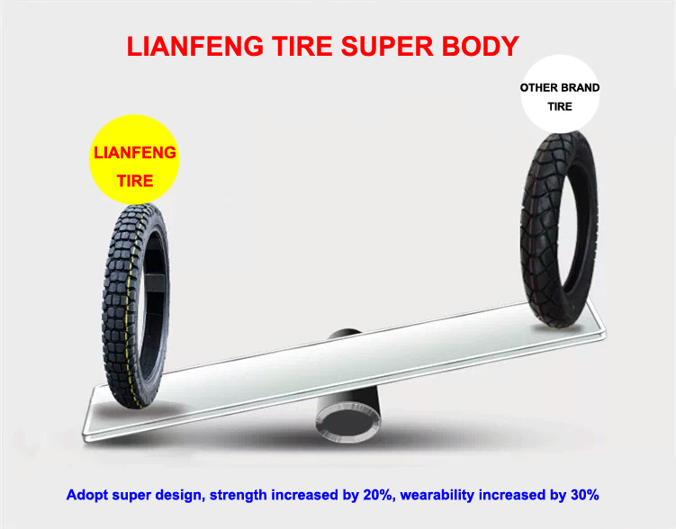 Motorcycle Spare Parts, Non-Slip Motorcycle Tyre Motor Tricycle Tire 2.75-17, 2.75-18, 3.00-17, 3.00-18