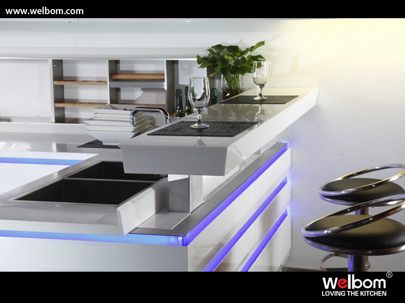 Welbom Australia Modern Villa Project High Gloss Lacquer Kitchen Cabinets Furniture
