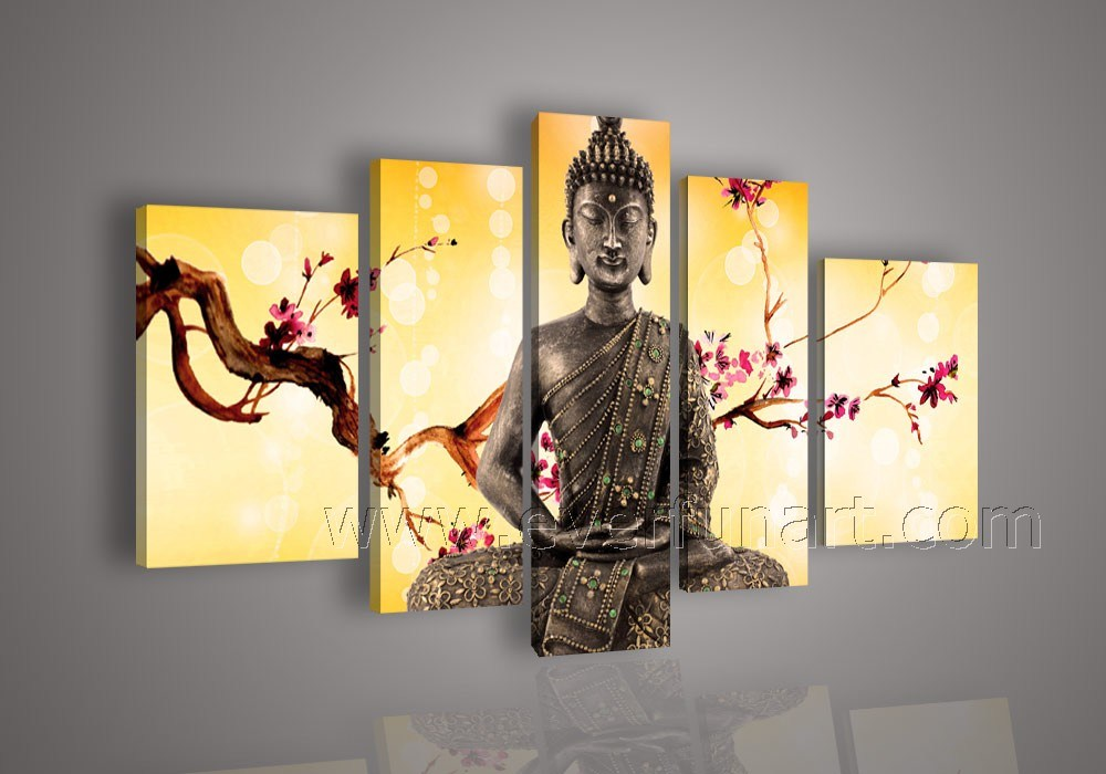 China framed buddha paintings on canvas wall art bu 005 for Wall art painting