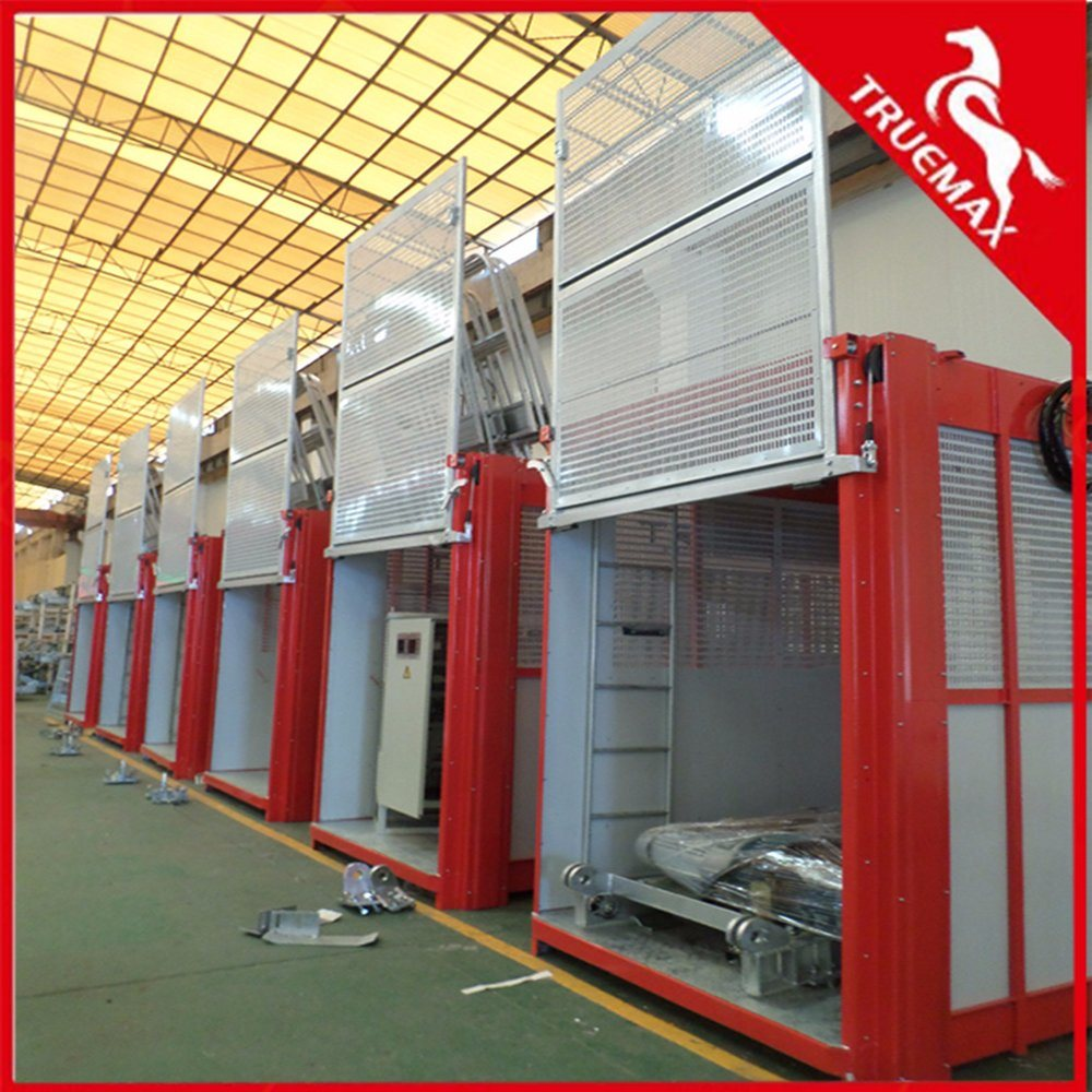 Single Cage Sc200tdv Building Hoist with Galvanized Mast Section