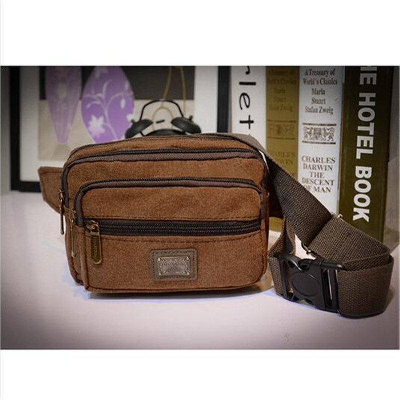 Men′s Waist Bag Fashion Casual Bag Men′s Pocket Canvas Chest Bag (GB#517)