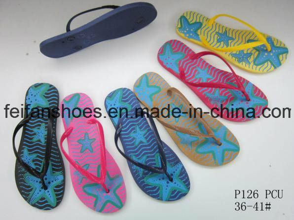 Women Flip Flops Customized PVC Slippers China Sandals Supplier (FFLT1017-02)