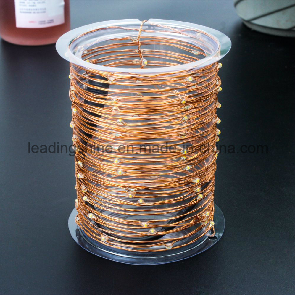 Low Voltage 12V Pin Plug Operated Warm White Copper Silver LED Micro LED String Lights