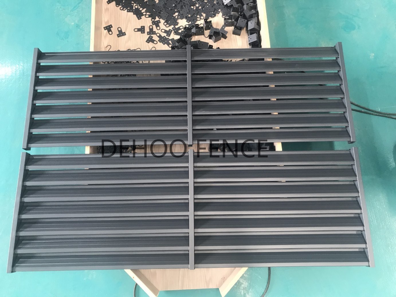 Modernized Grey Powder Coated Decorative and Protective Louvers for Houeses and Machines