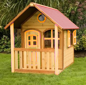New Design Wooden Playhouse for Children Home Outdoor Toy