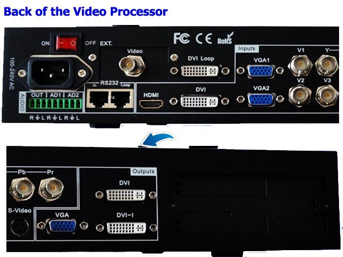 Vdwall Lvp605s HDMI/ Composite/USB/DVI/VGA Input DVI/VGA/Output Vdwall Lvp605s Series LED Display Video Processor