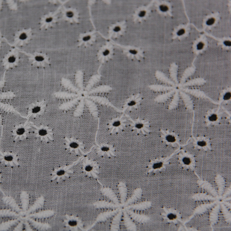 Flower Style Cotton Embroidey Fabric