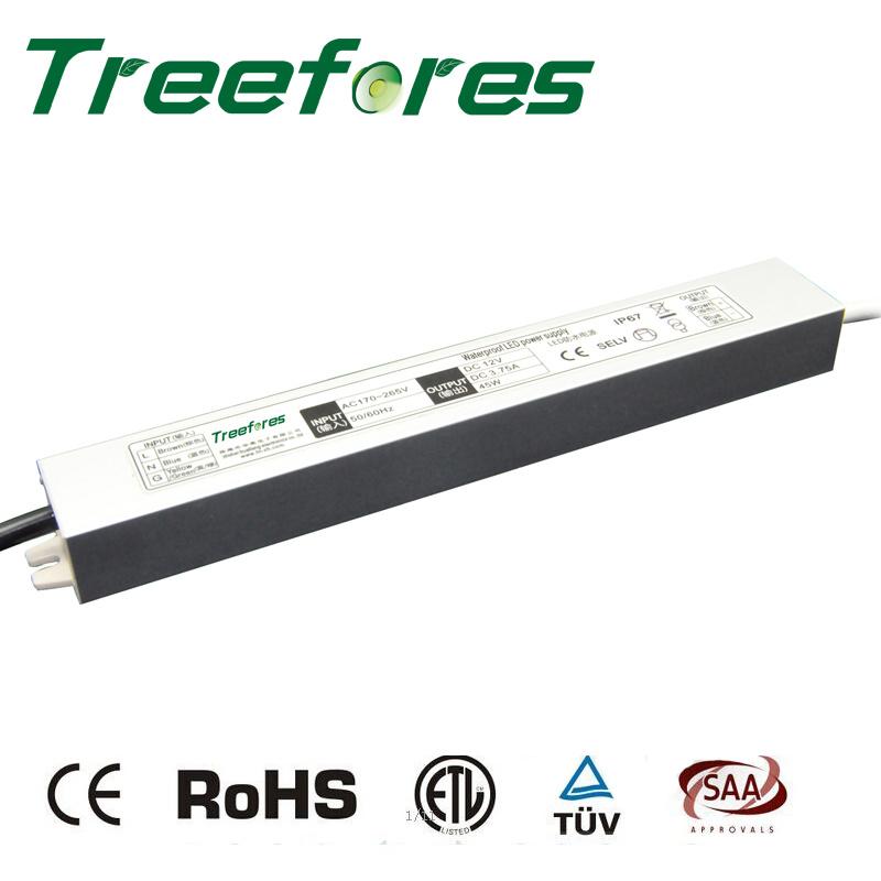 45W LED Driver IP67 12V 24V Power Supply