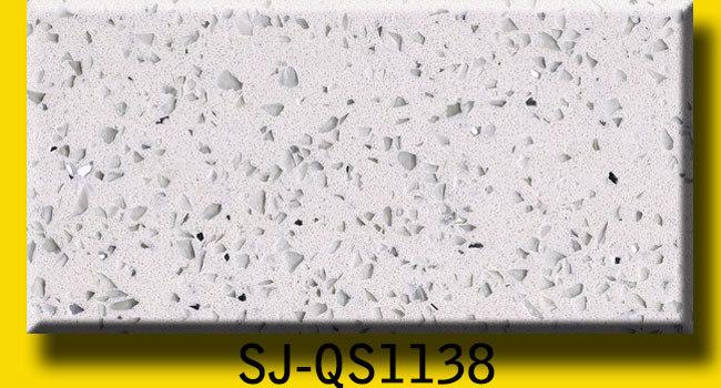 Artificial Black Sparkly Quartz Slab